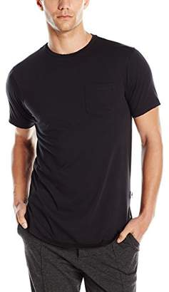 Publish Brand Inc. Men's Short Sleeve Scallop Crew Neck T-Shirt With Pocket