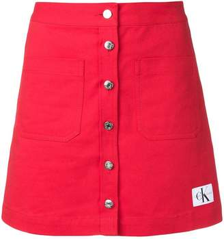 Calvin Klein Jeans button up mini skirt