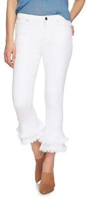 1 STATE 1.STATE Ruffle Frayed Skinny Jeans