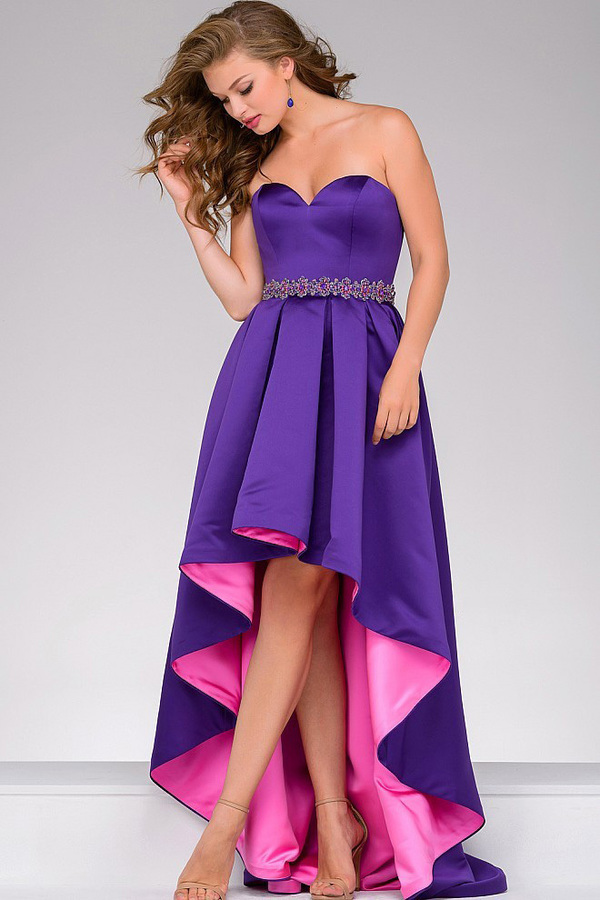 Jovani High Low Strapless Sweetheart Neck Dress 45170