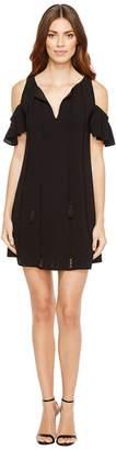 Jessica Simpson Cold Shoulder Dress w/ Ties Women's Dress