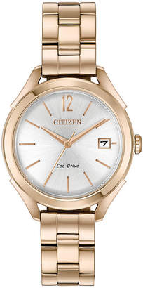 DRIVE FROM CITIZEN ECO-DRIVE Drive from Citizen Womens Rose Goldtone Bracelet Watch-Fe6143-56a
