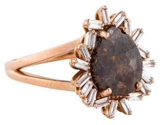 Suzanne Kalan 18K Diamond Cocktail Ring