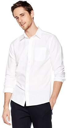 Isle Bay Linens Men's Slim-Fit Long-Sleeve Woven Shirt