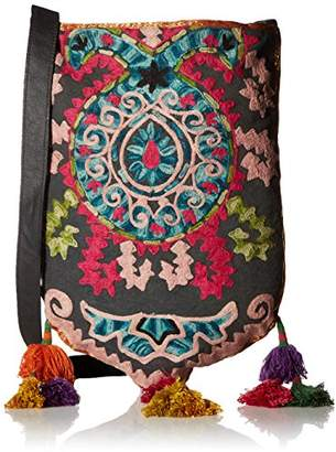 Ale By Alessandra 'ale by alessandra Women's Suzani Embroidered Tribal Bag With Tassels