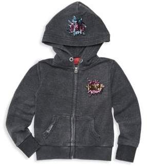 Butter Shoes Girl's Fleee Comic Patch Hoodie