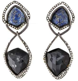 Alexis Bittar Lapis, Hematine Doublet & Crystal Orbiting Clip-On Earrings