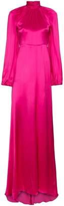 Gucci high neck silk maxi gown