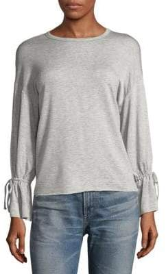Supply & Demand Self-Tie Bell Sleeve Sweater