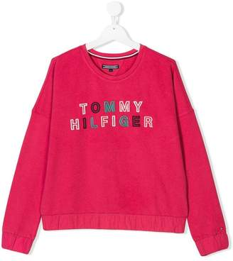 Tommy Hilfiger Junior TEEN embroidered logo sweatshirt