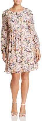 Glamorous CURVY Long-Sleeve Floral Dress