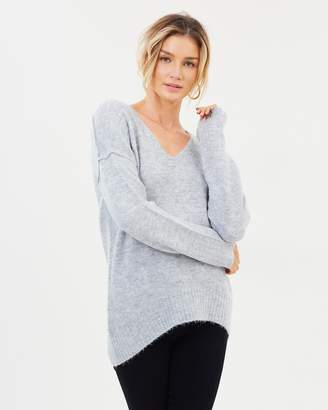 DECJUBA Connie V-Neck Slouchy Pullover