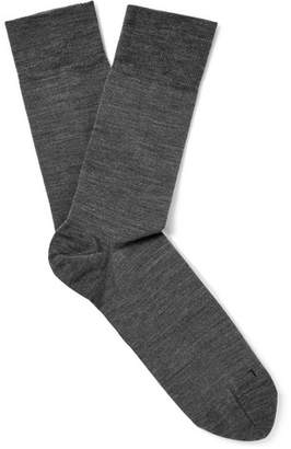 Falke Sensitive Berlin Virgin Wool-Blend Socks - Gray