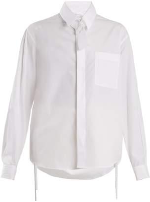 Craig Green Tie-neck cotton shirt