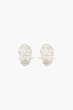 Alexander McQueen silver Skull Cufflink