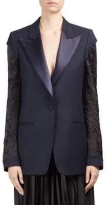 Roberto Cavalli Wool Button-Front Blazer