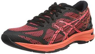 Asics Women's Gel-DS Trainer 21 Running Shoes, (Black/Flash Coral/Silver), 41 1/2 EU