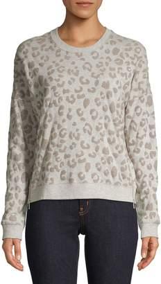 Rails Leopard-Print Cotton-Blend Sweater