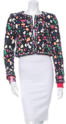 Chanel 2015 Hand-Painted Tweed Jacket w/ Tags