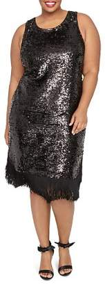 Rachel Roy Plus Lea Sequined Fringe Dress
