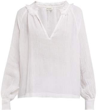 Masscob Morant Slubbed Linen Blouse - Womens - White