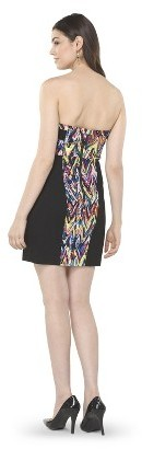 AMBAR Women's Chevron Strapless Dress - Multi