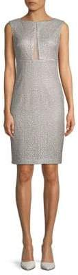 Aidan Mattox Metallic Cutout Sheath Dress