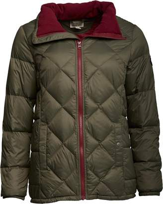 Converse Womens Lightweight Quilted Down Jacket Grape Leaf