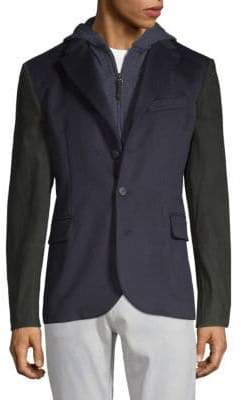 Robert Graham Marcello Cashmere & Suede Hooded Jacket
