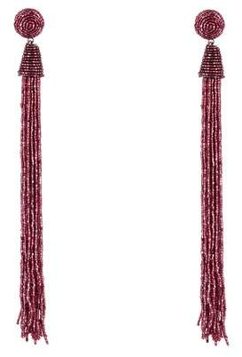 Panacea Berry Bead Tassel Duster Earrings