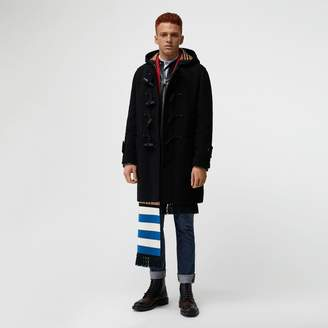 Burberry Vintage Check Detail Wool Blend Hooded Duffle Coat