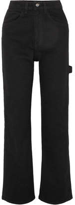 Eve Denim Carolyn High-rise Straight-leg Jeans - Black