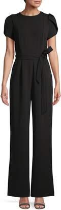 Calvin Klein Belted Stretch Jumpsuit
