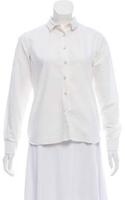MAISON KITSUNÉ Long Sleeve Button-Up Top