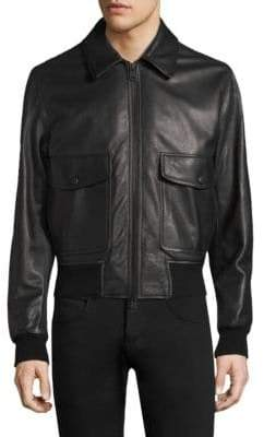 Ami Leather Biker Jacket
