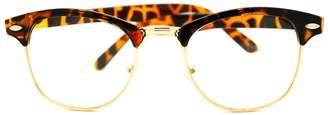 Moda Vintage Retro Classic Half Horn Rim Clear Lens Eye Glasses