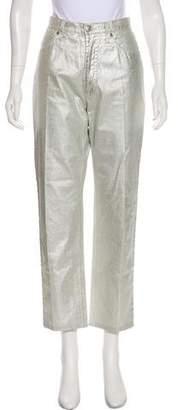 Les Copains High-Rise Straight-Leg Jeans
