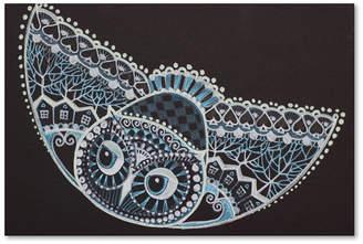 "Trademark Global Oxana Ziaka 'Tattoo Owl' Canvas Art, 12x19"""