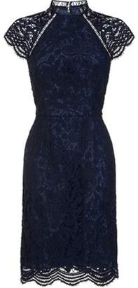 Dorothy Perkins Womens *Chi Chi London Navy Crochet Shift Dress