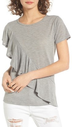Women's Bp. Ruffle Front Tee $29 thestylecure.com