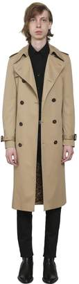 Saint Laurent Cotton Blend Gabardine Trench Coat