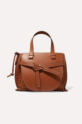 Loewe Gate Woven Leather Tote - Tan