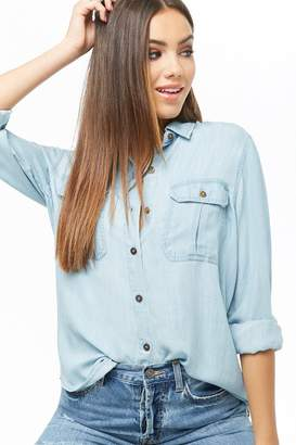 Forever 21 High-Low Chambray Shirt
