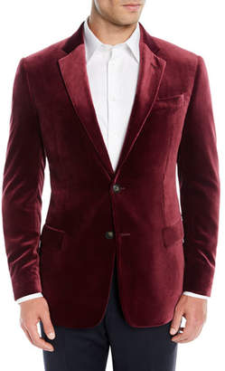 Emporio Armani Men's Liquid Velvet Two-Button Jacket
