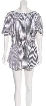 MLM Label Striped Off-The-Shoulder Dress