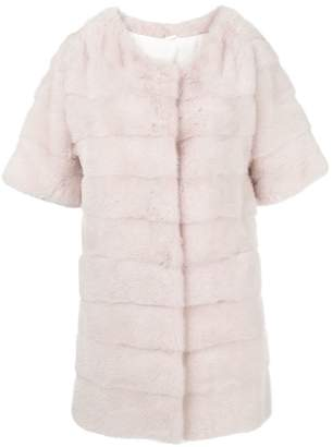 Simonetta Ravizza Dari short sleeve panel coat