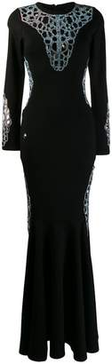 Philipp Plein stretch jersey maxi dress