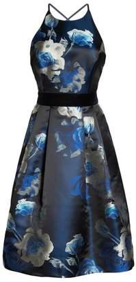 Eliza J Jacquard Fit & Flare Dress