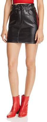 Sunset & Spring Sunset + Spring Track Stripe Faux Leather Skirt - 100% Exclusive