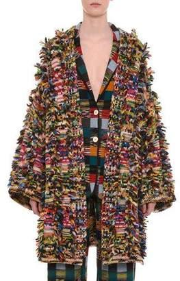 Missoni Multicolor Open-Front Cashmere-Alpaca Cardigan